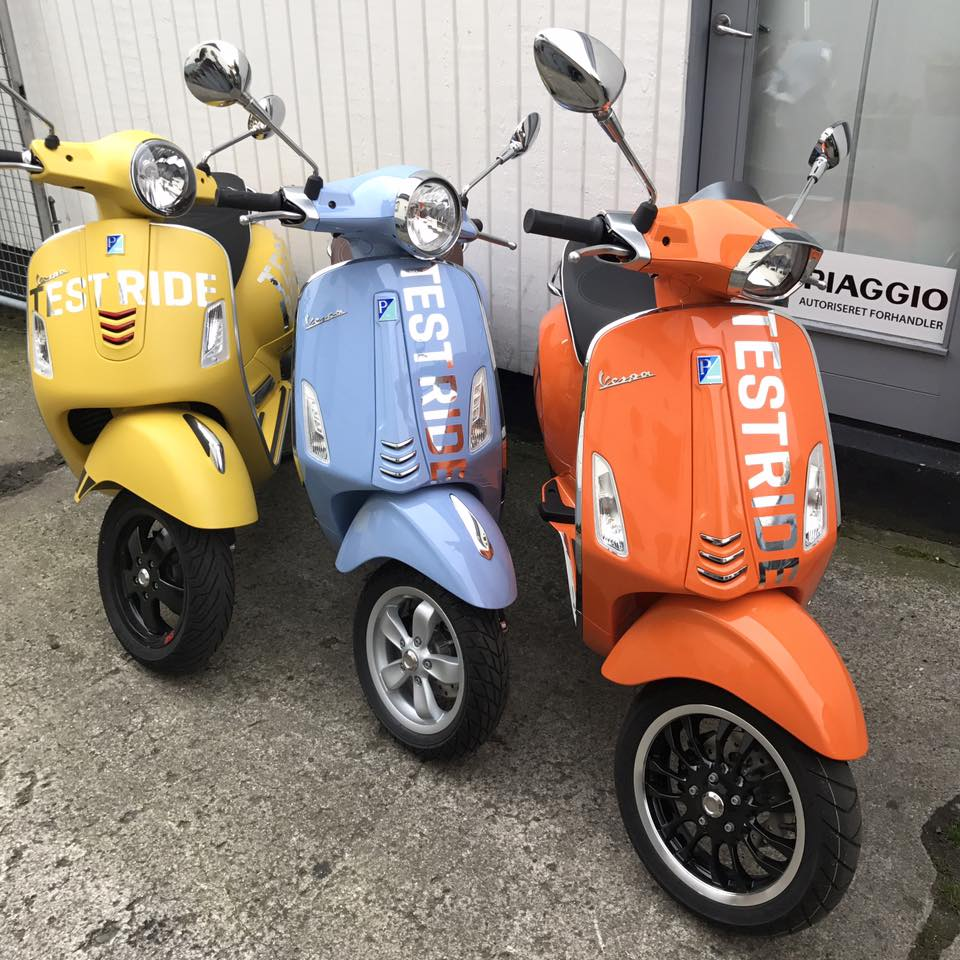 Vespa test ride